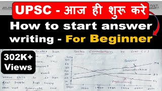 Answer Writing Strategy for UPSC / IAS GS Mains - How to start answer writing For Beginner  By Veer