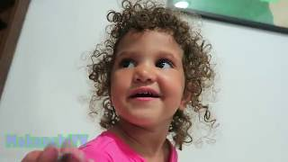 Cute Mixed Baby Girl Learning To Write Letters | MokenchiTV