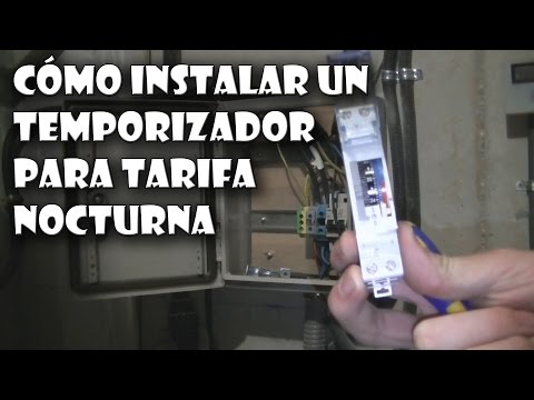 Cómo instalar un temporizador para horario nocturno o discriminación horaria