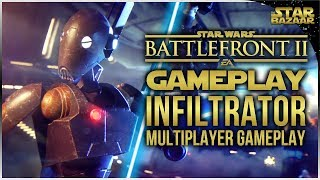 New Infiltrator Class Multiplayer Gameplay | Battlefront 2 Gameplay