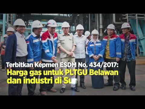 Kunjungan Kerja Menteri ESDM, Ignasius Jonan ke Pembangkit Listrik Tenaga Gas Uap (PLTGU) Belawan