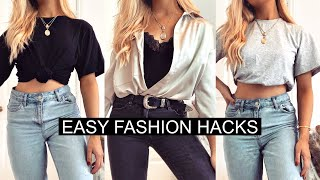 HACKS TO MAKE YOUR OUTFIT LESS BASIC! / FASHION HACKS 2020