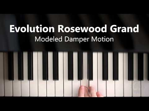 Video for Evolution Rosewood Grand - Modeled Damper Motion