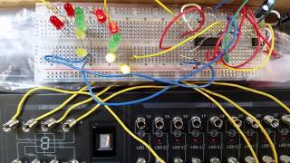 4-way traffic light circuit test