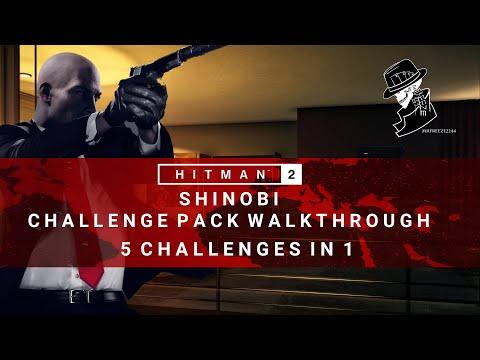 HITMAN 2 | Shinobi Challenge Pack Complete Walkthrough | 5 Challenges in 1 | Hawke's Bay