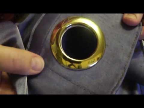 Как сделать Люверсы (кольца) на шторах DIY