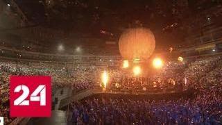 Фестиваль молодежи и студентов завершился грандиозным шоу - Россия 24