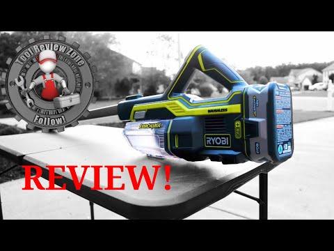 Ryobi 18-Volt Stick Vacuum Cleaner REVIEW! P718K