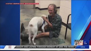 Video of Memphis homeless man reunited with lost dog goes viral