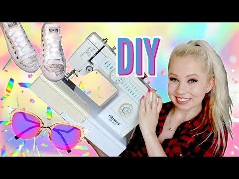 Kolik stojí takové DIY? Třpytivé tenisky, stylové brýle, festivalový top