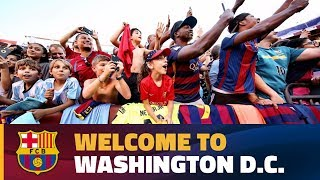 Over 6,000 on hand for Barça training session at FedExField in Washington