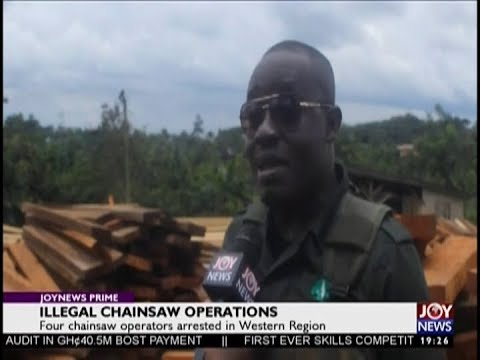 Illegal Chainsaw Operations -  JoyNews Prime (20-9-18)