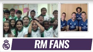 💻⚽😮📱 SURPRISE! Movistar helped some of our players get to know #RMFans like YOU!