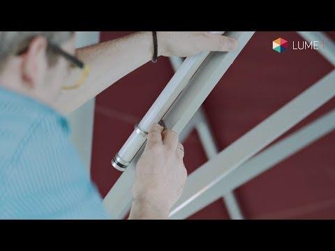 Schaffen Sie Ambiete durch kabelfreie Sonnenschirmbeleuchtung - Lume-1®