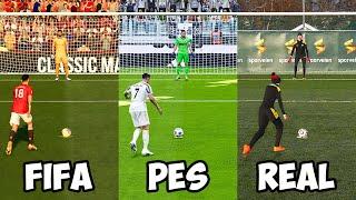 FIFA 21 vs PES 2021 vs REAL LIFE – PENALTY SHOOTOUT BATTLE