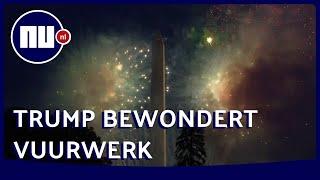 Trump bewondert Onafhankelijkheidsdag vuurwerk vanuit Witte Huis | NU.nl
