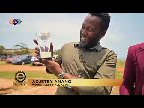 Adjetey Anang receives #EAAwards plaque; promises alot more exciting movies