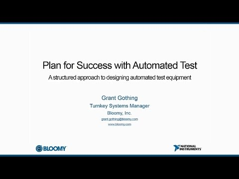 Plan for Success with Automated Test