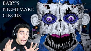 NIGHTMARE BALLORA IS NOW AFTER ME! - Baby's Nightmare Circus (Bon-Bon Rules & Night 2)