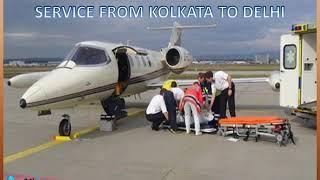 Book World-Class Best Air Ambulance Service from Kolkata to Delhi