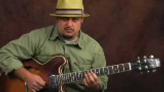 Learn guitar jazz rhythm & how solo w/ Harmonic Minor Scale