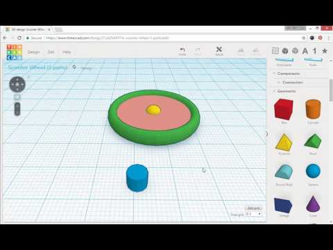 Build A Wheel With Tinkercad Crestek Net