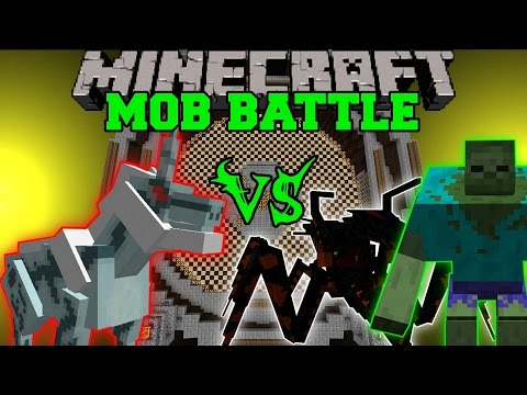 KIRIN VS MUTANT ZOMBIE & JUMPY BUG - Minecraft Mob Battles - Monster Hunter Mods