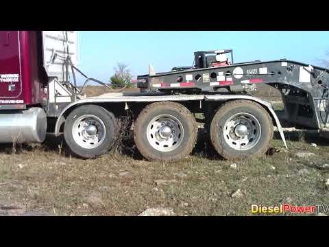 Stuck Peterbilt Truck