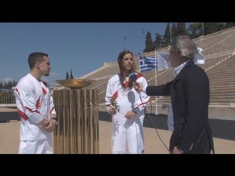 Δηλώσεις Ολυμπιονικών μετά την τελετή παράδοσης της Ολυμπιακής Φλόγας
