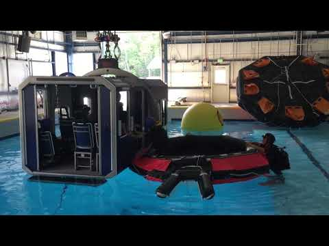Shell Oil Company Tropical helicopter underwater escape training ...
