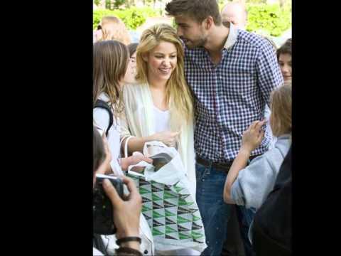 Shakira y Gerard Piqué paseo por Pedralbes Addicted to you.wmv