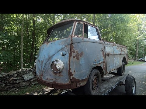 1958 Vw Single Cab Bus Found : Logo'd Split Window Pressed Bumper Volkswagen SC !
