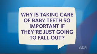Baby Teeth Are Going to Fall Out, So Why Take Care of Them?