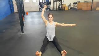 Kamloops Chiropractor | Movement Demo | Single Arm Seated DB Arnold Press