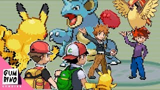 Red and Ash vs Gary and Blue Pokémon Battle