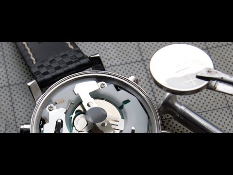 DIY How to Replace a Watch battery, shown on a ESQ watch