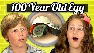 KIDS vs. FOOD #21 - 100 YEAR OLD EGG (CENTURY EGG)