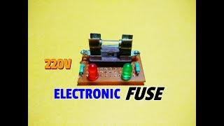 How To Make A Simple Electronic Fuse Circuit..Simple Blown Fuse Indicator Circuit..Simple Project..