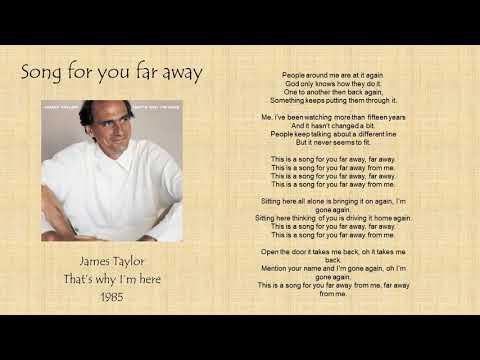 James Taylor   song for you far away