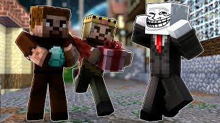 TROLL ADAM ZENGİN VE FAKİR İLE ARKADAŞ OLDU! 😂 - Minecraft
