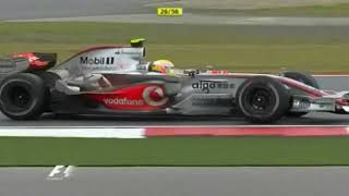 F1 2007 Chinese Grand Prix: The World Title Painfully Slips Away From Lewis Hamilton