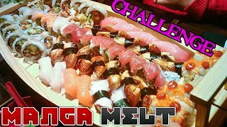 All-You-Can-Eat Sushi Challenge : MANGA MELT Ep.27 - Video Youtube