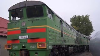 2ТЭ10М-2510 Запуск дизеля / 2TE10M-2510 engine startup