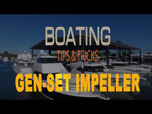 Emergency Impellor replacement on a Generator   Boating Tips