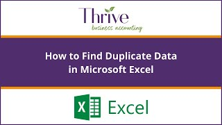 How to Find Duplicate Data in Microsoft Excel