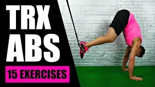 15 BEST TRX EXERCISES FOR ABS | TRX Suspension Training Core Exercises For Lower Abs + Love Handles by Max's Best Bootcamp