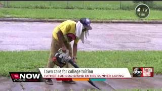 Florida Teenager Cuts Grass All Summer To Save For His College Tuition