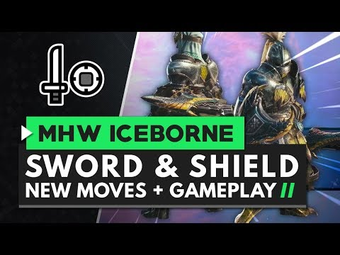 Monster Hunter World Iceborne | New Sword & Shield Moves, Gameplay & Master Rank Rathian Armor