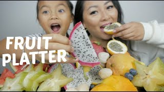Tropical Mix Fruit Platter Mukbang | N.E Lets Eat