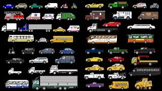 Street Vehicles Collection - Cars and Trucks - The Kids' Picture Show (Fun & Educational)